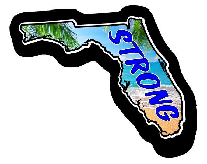 Florida Strong Car Truck Bumper Custom Print Sticker Vinyl Decal Graphic  FREE SHIPPING