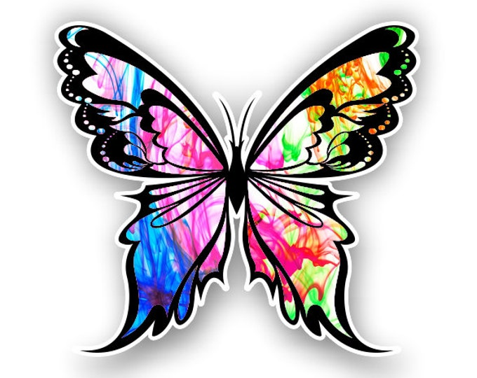 Color Burst Butterfly sticker / decal**Free Shipping**
