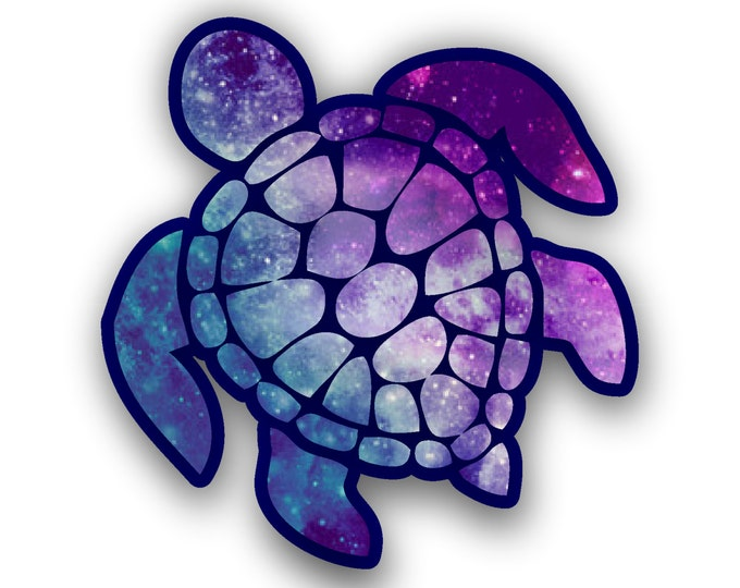 Sea Turtle Decal/sticker (color-starry sky)  **Free Shipping**
