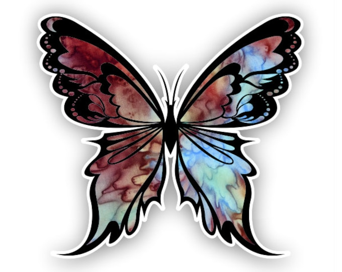 Mocca Butterfly sticker / decal**Free Shipping**
