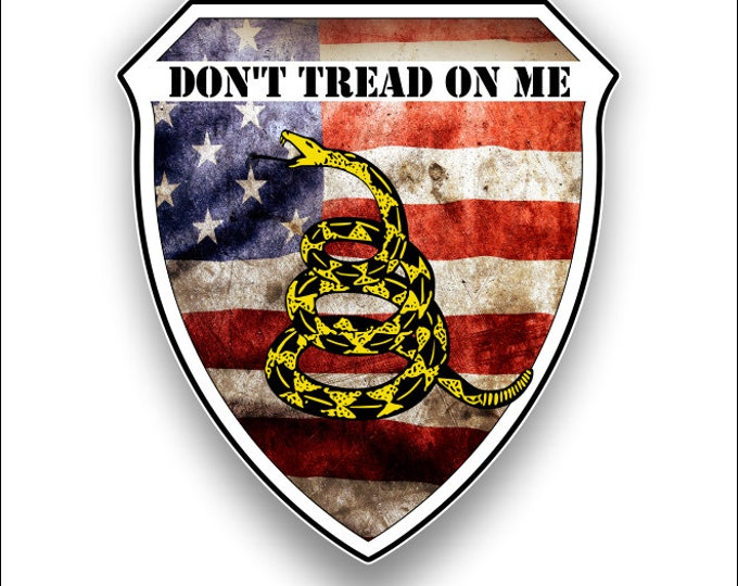 Don't Tread on Me USA Flag Decal American Flag Sticker  for cars trucks for honor and support