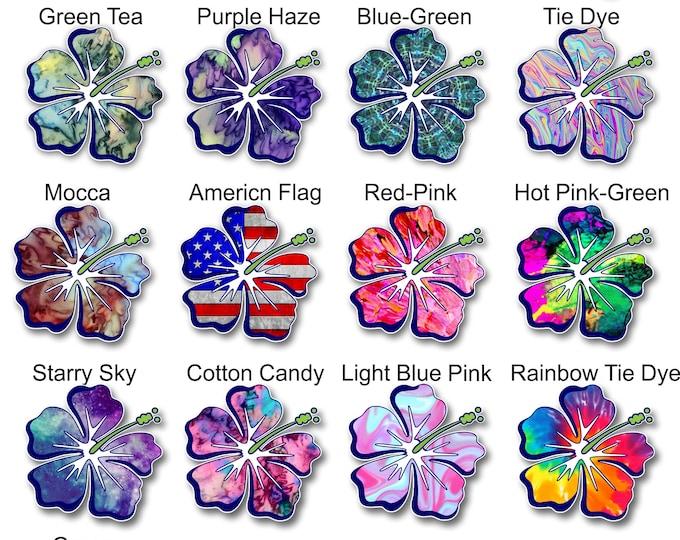 Hibiscus Flower printed vinyl Laptop sticker Hibiscus Decal,Hibiscus Vinyl Decal, Hibiscus Car Sticker, Car Decal, Flower Decal