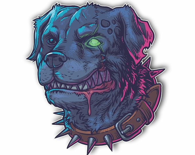 Evil Mad Zombie Dog Sticker Car Motorcycle Bicycle Skateboard Laptop Luggage Decals Bumper Stickers Waterproof