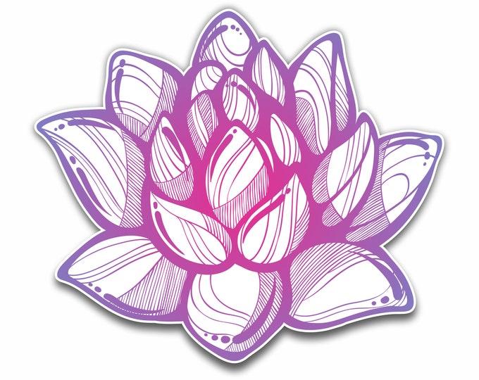 "Lotus Flower boho Style Sticker for car truck window laptop computers bumper sticker 4X4.5"""