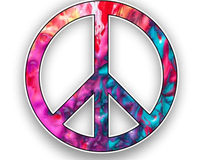 Peace Sign Kalidescope Pattern  Sticker Car Motorcycle Bicycle Skateboard Laptop Luggage Decals Bumper Stickers Waterproof