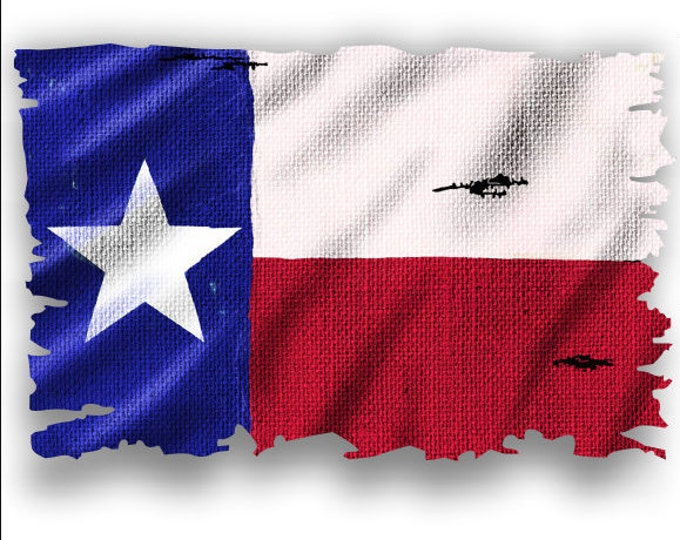 Texas State Flag with burlap pattern sticker for car truck laptop or any smooth surface  ***Free Shipping***