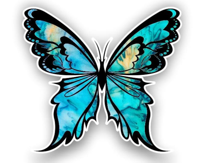 Cyan Dream Butterfly sticker / decal**Free Shipping**