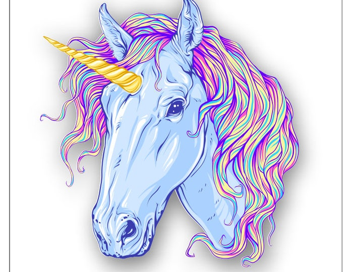 Unicorn Sticker Fancy Tie Dyed Mane  for car truck laptop or any smooth surface  ***Free Shipping***