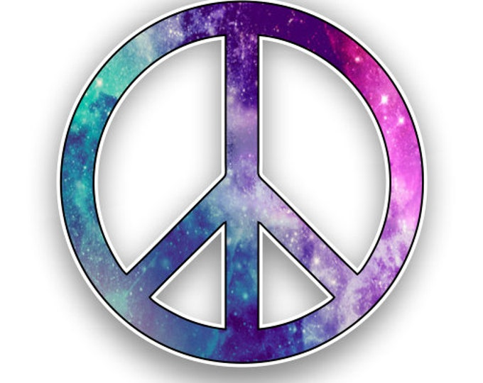 Peace Sign Starry Sky Print Sticker Car Motorcycle Bicycle Skateboard Laptop Luggage Decals Bumper Stickers Waterproof