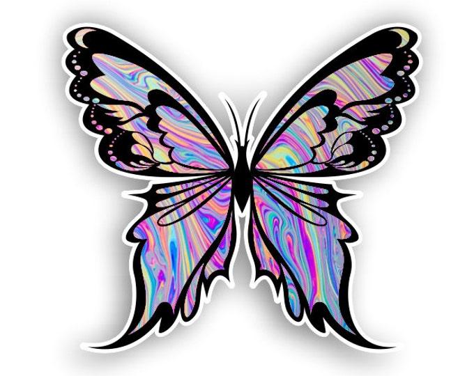 Tye Dye Butterfly sticker / decal**Free Shipping**