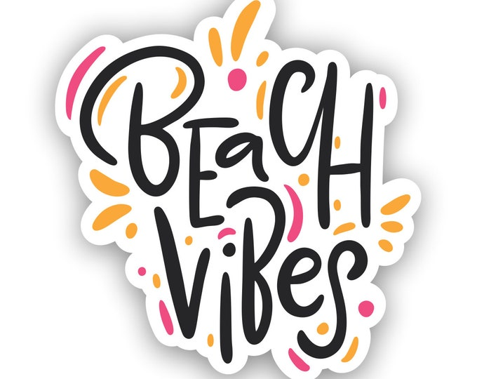 Beach Vibes Sticker for car truck laptop or any smooth surface  ***Free Shipping***