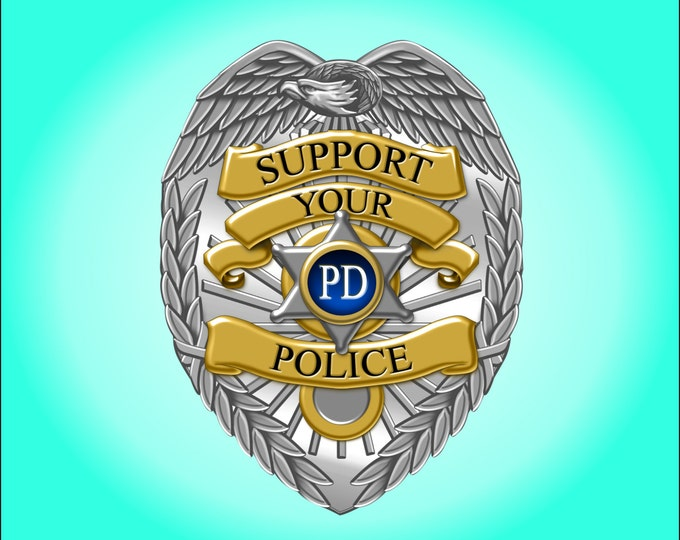 Police Support badge decal/sticker  Back the Blue  ***Free Shipping***