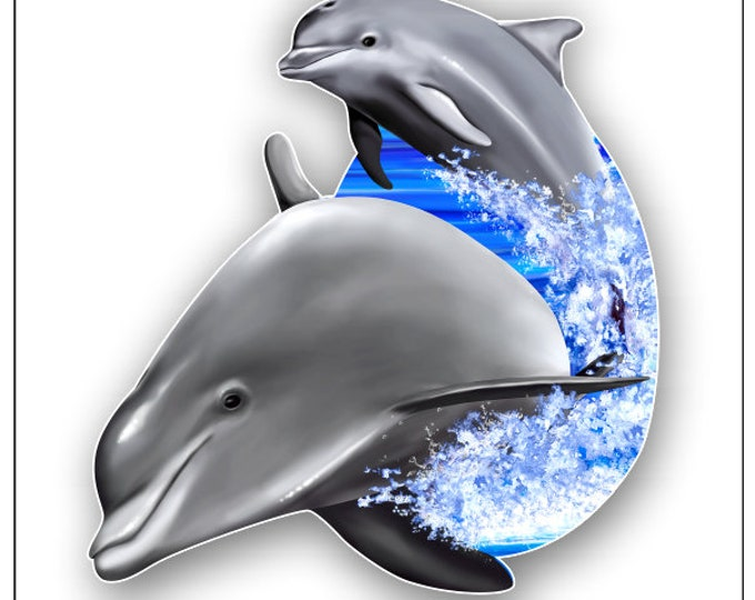 Dolphins Jumping sticker / decal **Free Shipping**
