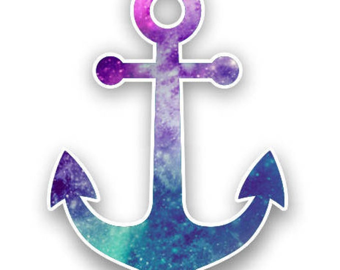 Anchor printed pattern sticker for car truck laptop or any smooth surface  16 custom color choices  ***Free Shipping***