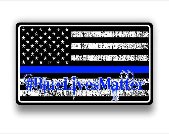 Blue Lives Matter     #bluelivesmatter sticker / decal **Free Shipping****