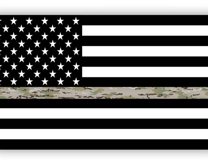 Thin Green Line Flag Decal Operational Camouflage  OCP Camo USA American Flag Sticker for cars trucks in honoring and support of our troops