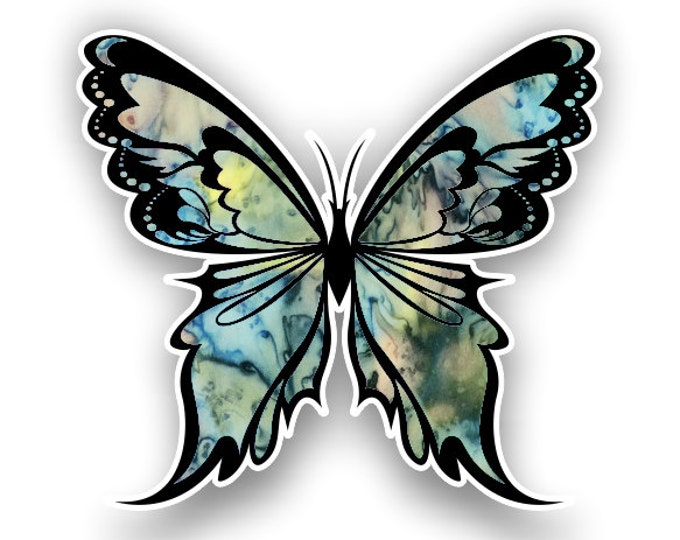 Green Tea Butterfly sticker / decal**Free Shipping**