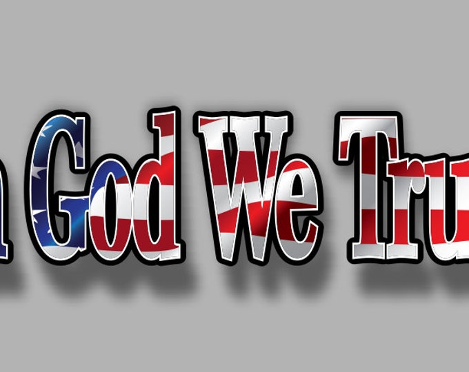 In God We Trust sticker/decal  **Free Shipping**