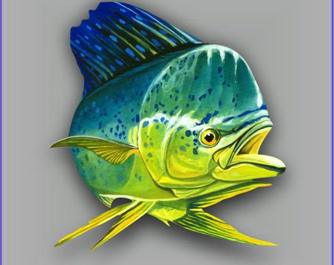 Mahi Mahi Fish sticker / decal **Free Shipping**