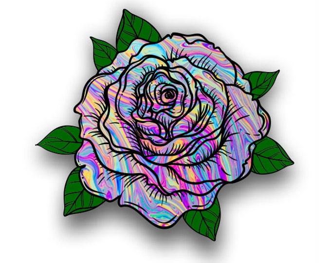 Tye Dye Rose sticker / decal**Free Shipping**