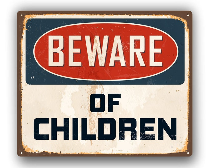 Beware of Children Funny Sticker  for car truck laptop or any smooth surface  ***Free Shipping***