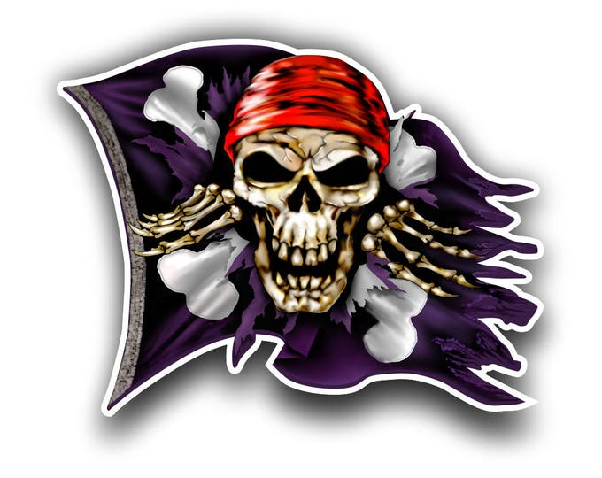Pirate Jolly Roger sticker / decal **Free Shipping**