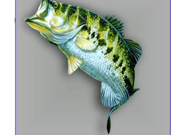 Largemouth bass sticker / decal **Free Shipping**