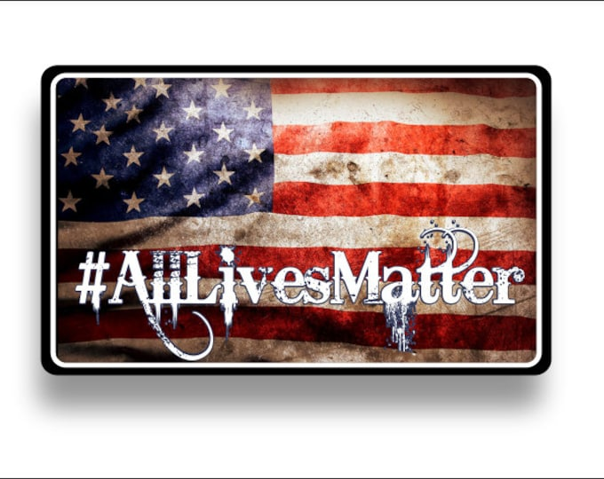 all lives matter Subdued American flag Decal/Sticker  **Free Shipping**