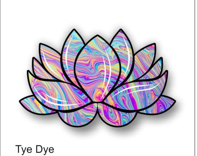 lotus flower tye dye sticker / decal **Free Shipping**