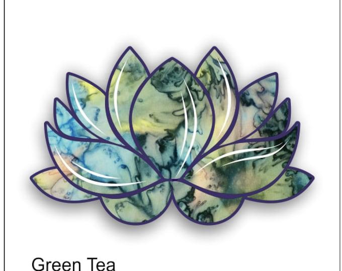 lotus flower green tea sticker / decal **Free Shipping**