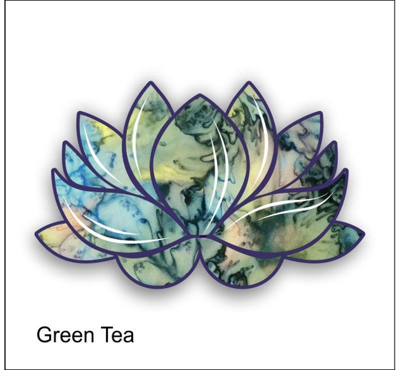 Lotus Flower Green Tea Sticker Decal Free Shipping Etsy