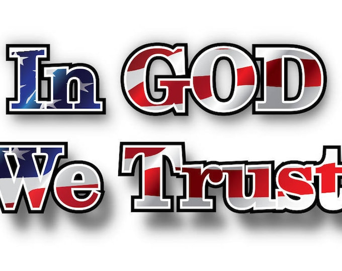 In GOD we trust decal/sticker **Free Shipping**
