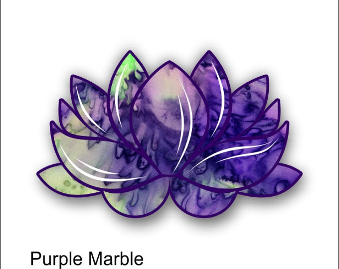 lotus flower purple marble sticker / decal **Free Shipping**