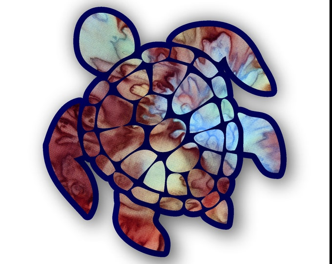 Sea Turtle Decal/sticker (color-mocca)  **Free Shipping**