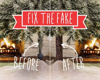 Brand New Invention For The Holiday Season. This Original Product Will Take Your Artificial Christmas Tree To The Next Level.  FIX THE FAKE