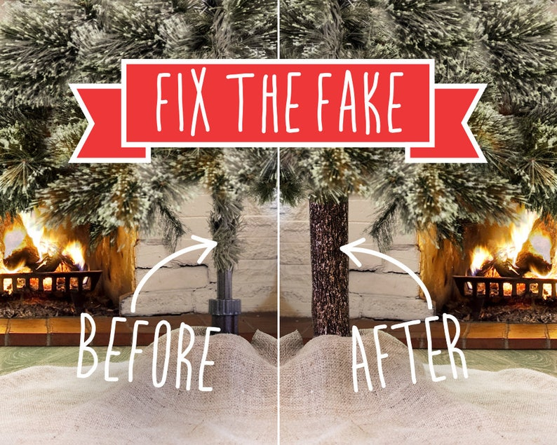 FIX UGLY POLE & beautify your artificial Christmas tree this holiday  Just  as important as a tree skirt, tree topper, ornaments, or lights