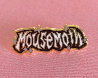 Metal Logo Mousemoth- Gold Hard Enamel Pin- Standard A Grade