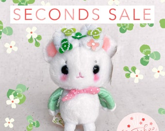 """SECONDS SALE- B and C Grade Mousemoth Plush Keychain """"Sweet Clover"""""""