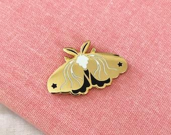 Tiny Gold Moth - A Grade - Hard Enamel Pin