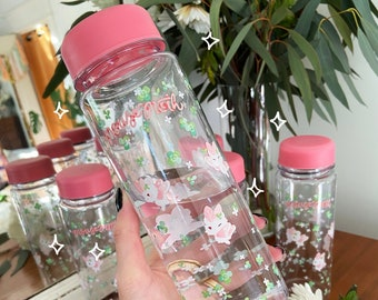 PLASTIC water bottle- Clover Mousemoth