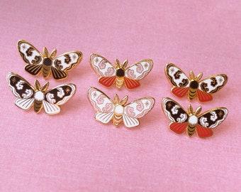 Small Cloud Moths - A Grade - Hard Enamel Pin