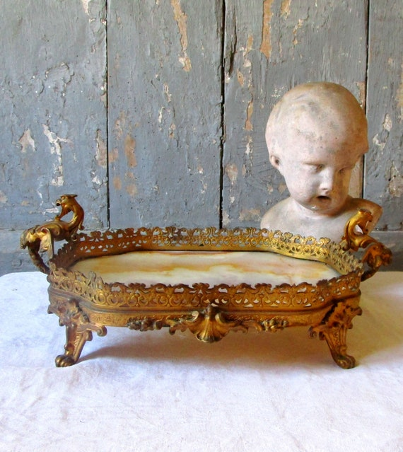 Buy Cheap Stunning Antique Gilt Bronze And Onyx Centerpiece Moderate Price Decorative Arts