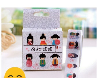 Japanese Kimono Girls Design Decorative Washi Tape/Scrapbooking Masking Tape