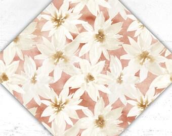 Floral Vinyl - Flower Printed Adhesive Vinyl - htv - Watercolor - Floral - Adhesive Vinyl - Heat Transfer Vinyl - Sublimation - Paper