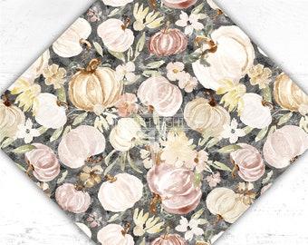 Pumpkins Vinyl - Flower Printed Adhesive Vinyl - htv - Watercolor - Floral - Adhesive Vinyl - Heat Transfer Vinyl - Sublimation - Paper