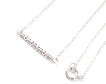 Necklace minimalist necklace minimalist jewelry dainty necklace silver necklace bead delicate necklace