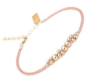 blush pink friendship bracelet wish bracelet best friend bracelet pink bracelet string bracelet