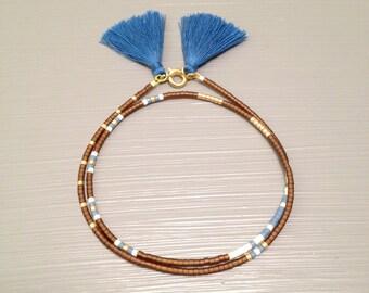 Friendship Bracelet Tassel Bracelet Beaded Friendship bracelet Seed Bead Bracelet Beaded Wrap Bracelet