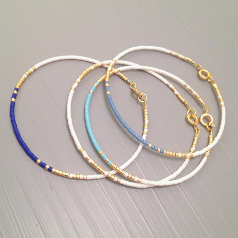Everyday bracelet tiny gold bracelet gold bead bracelet Every image 0