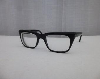 81c43a1a200 Vintage 50s 60s French Zyloware Eyeglasses Reading Black Nylon Round Square  Classic Frame Retro Cat-Eye Eyewear France Mod Hipster Glam Garb